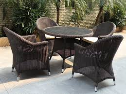 dining furniture made of aluminum frame and round plastic rattan weaving