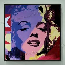 hand painted oil paintings pop art marilyn monroe canvas art home decoration modern oil painting canvas
