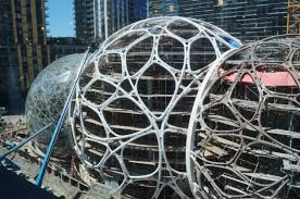 a look at the three spheres amazon is building as part of its denny triangle headquarters amazon office space