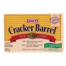 Cracker Barrel Light Cheese Cheddar Old Light Cheese