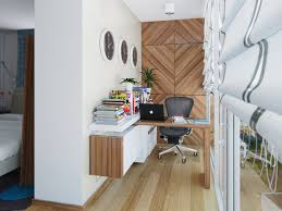 Fetching Hanging Desk Ideas For Small Workspace Designs With Natty Books  And Planters Under Wall Clocks ...
