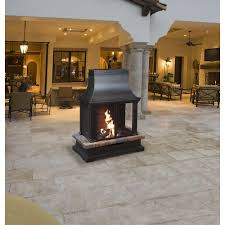 indoor outdoor gas fireplace inspirational bond manufacturing sevilla 36 in steel and slate wood burning