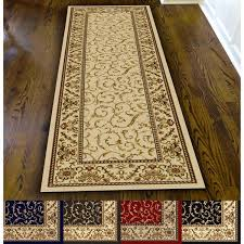 area rugs with matching runners admire home living amalfi scroll rug runner 2 x