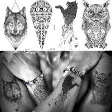 Baofuli водонепроницаемая временная татуировка геометрической формы