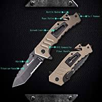 HX Outdoors 8-in <b>Infantry</b> Tactical <b>Folding Knife</b> with 3.2 inch ...