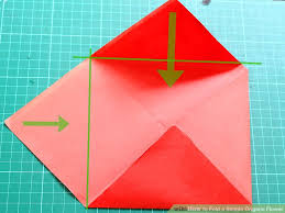 Easy Paper Origami Flower How To Fold A Simple Origami Flower 12 Steps With Pictures