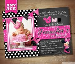 chalkboard minnie mouse baby girl birthday invitation bestpickr com mickey mouse invitations