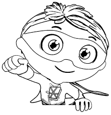 Super Why Coloring Page | Wecoloringpage