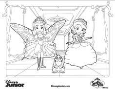 Small Picture Sofia the First Coloring Page Scene Birthdays and Craft