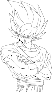 Coloriage Dragon Ball Z Sangoku Super Sayen 1 Ancenscp