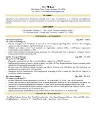 Military Resume Sample Examples Tongue And Quill Curriculum Vitae