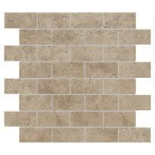 del conca 12 x 12 rialto noce mesh mosaic unglazed porcelain tile