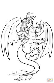 Small Picture Hiccup And Toothless Flying coloring page Free Printable