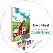 barn flag a country living scene