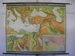 Details About Schulwandkarte Wall Map Map Map Bible Old Testament Palestine 1951 175x144