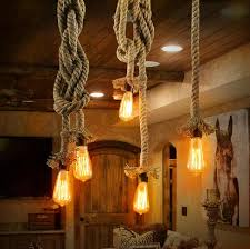 cheap rustic lighting. Vintage Rope Pendant Lights. Cottage, Coastal, Rustic Lighting Cheap Rustic Lighting A