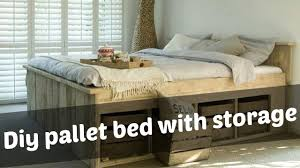 wood pallet bed frame with lights underneath diy 18 maxresdefault diy bed
