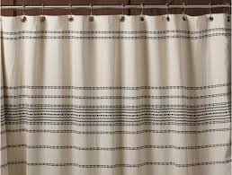 rippled stripe organic shower curtain