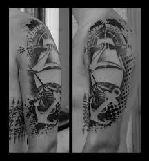 татуировка роза ветров значение эскизы тату и фото