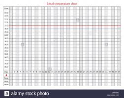 Basal Chart Celsius Vector Basal Chart Of Body Temperature On Celsius Schedule