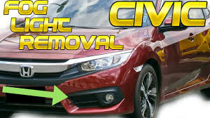 2016 Civic Fog Light Bulb 2016 2017 2018 Honda Civic Fog Light Removal How To Remove Install Replace Replacement