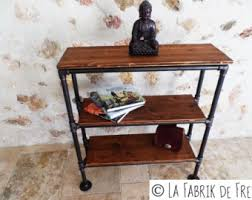 iron industrial furniture. Console - Industrial Furniture Library Vintage Black Cast Iron Pipe These Custom Made