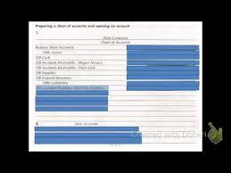 4 1 Preparing A Chart Of Accounts Youtube