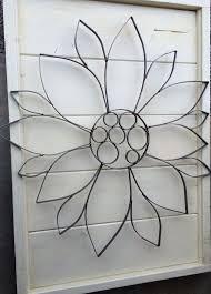 wrought iron sunflower wall art large