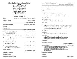 Catholic Wedding Mass Program Catholic Wedding Ceremony Without Mass Free Catholic Wedding Program