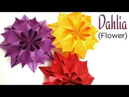 Paper Origami Flower Making