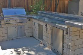 custom high low concrete countertop outdoor kitchen outdoor kitchen sacramento design 29