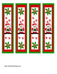 Twelve different designs in color and black and white. Free Printable Christmas Bookmarks