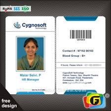 Id Card Double Side Customized Cmyk Business Card View Id Card Oem