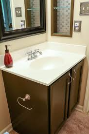 painting a bathroom vanity. After: Guest Bathroom Painted Vanity Painting A