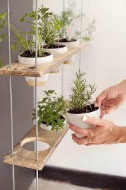 DIY Hanging Herb Garden   Impressive DIY Garden Wood Projects