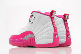 jordan shoes for girls. girls air jordan 12 pink white shoes for