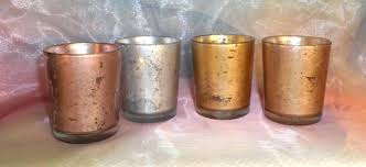 mercury votive candle holders rose gold glass parties weddings centerpieces gift silver pillar uk