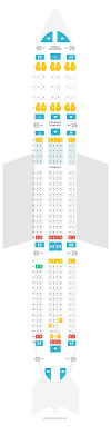 Klm Airlines Seating Chart Seat Map Airbus A330 300 333 Klm Find The Best Seats On A