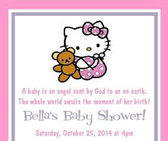 Hello Kitty Invitation Printable Hello Kitty Baby Shower Invites Hello Kitty Ba Shower Invitations