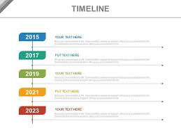 Vertical Timeline Powerpoint Year Based Vertical Timeline For Business Powerpoint Slides