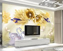 Custom Mural 3d Wallpaper 3d Perspectief Romeinse Angel Bloem Reliëf