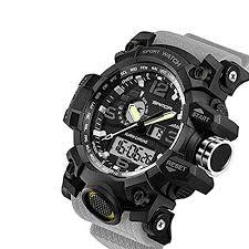 <b>Men's</b> Military Watch, <b>Dual</b>-<b>Display</b> Waterproof Sports Digital Watch ...