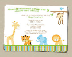 Jungle Baby Shower Invitation, Safari Theme Invite, Print at Home, DIY  Yourself,