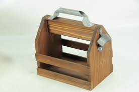 decorative wooden beer caddy w bottle opener 10 x 9 1 2 x 5 1 2 item 033