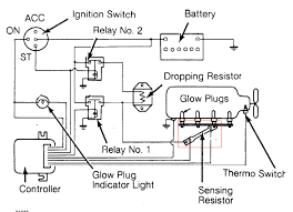 glow plug wiring diagram glow image wiring diagram diagram plug glow wiring vt364 diagram home wiring diagrams on glow plug wiring diagram