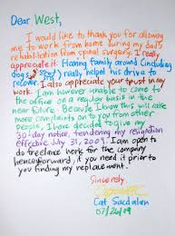 Free Resignation Letter Templates Samples And Examples Pdf With