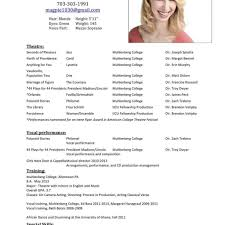 Windows Resume Template Fascinating Acting Resume Template Windows Resume Builder Theatre Resume For
