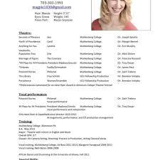 Windows Resume Builder Acting Resume Template Windows Resume Builder Theatre Resume For 11