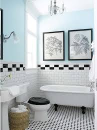 black and white bathroom border wall tiles