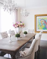 Living Room With Dining Table Dining Room Decor 2 Double Chandeliers Light Fixtures